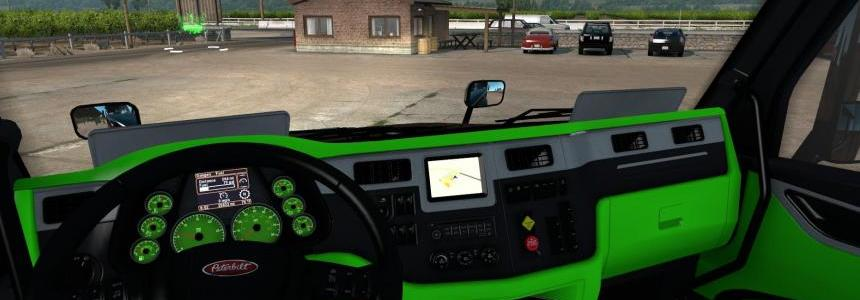 Peterbilt 579 Neon Green interior v1.0.0