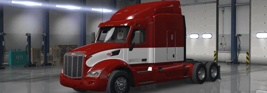 Peterbilt 579 Red/White Skin v1.0.0
