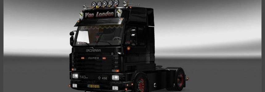Scania 143M Van Londen + V8 Sound + Trailer