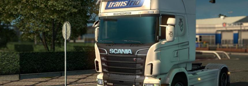 Scania RJL Transfrio White Skin v4.0