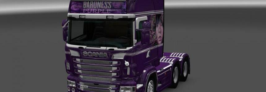 Scania RS RJL Baroness Purple Skin