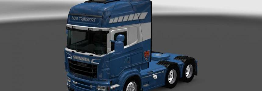 Scania RS RJL Bear Transport Skin