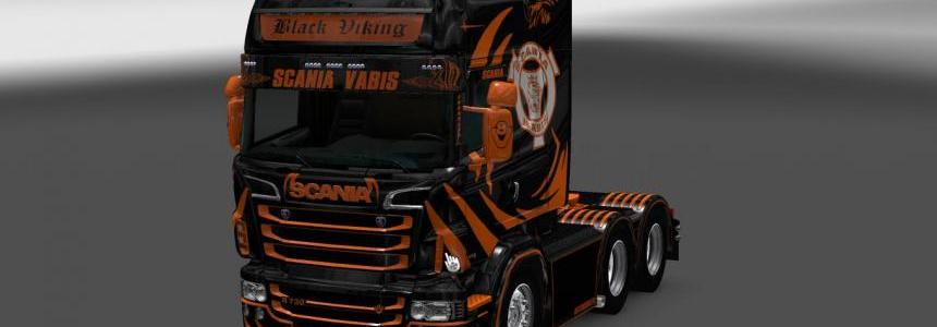 Scania RS RJL Black Viking Skin