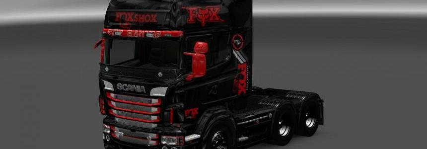 Scania RS RJL Fox Racing Skin