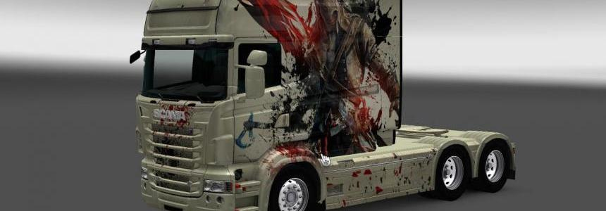 Scania RS RJL Longline AssassinS Creed Skin