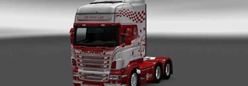 Scania RS RJL Old School Lady Skin