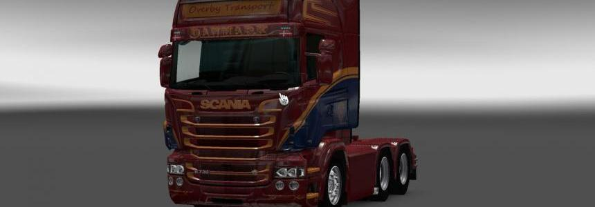 Scania RS RJL Overby Transport Skin