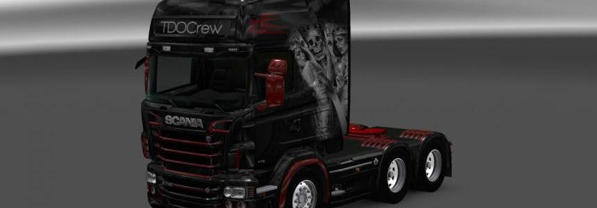 Scania RS RJL Skull Card Skin 1.22