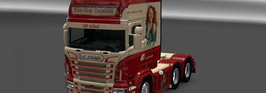 Scania RS RJL Trans Europe Corporation Skin