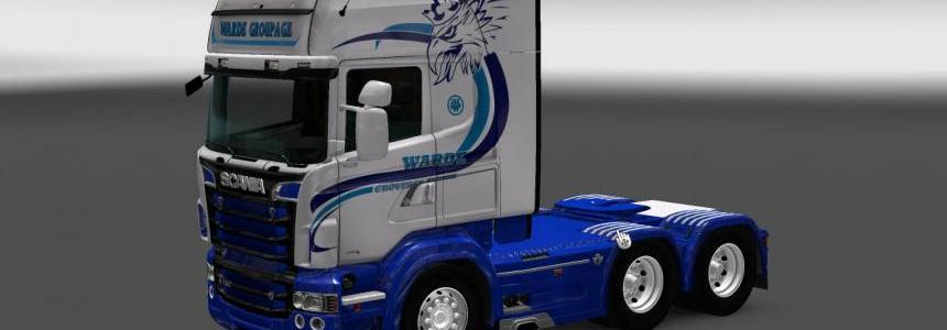 Scania RS RJL Warde Groupage Skin 1.22