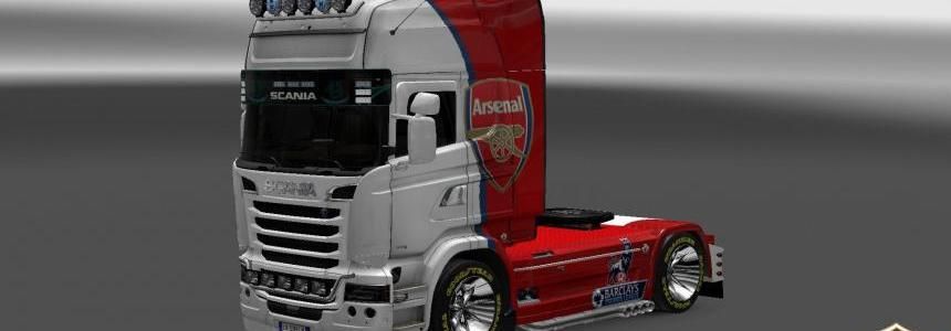 Scania Streamline FC Arsenal Skin