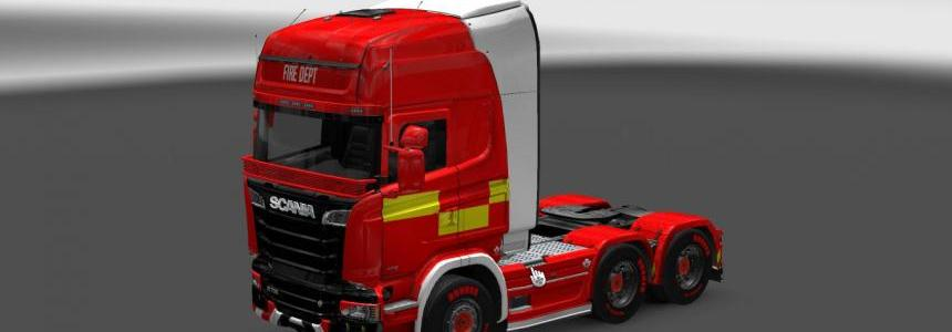 Scania Streamline Fire Truck Skin