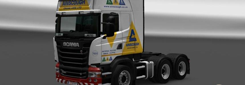 Scania Streamline RJL Ainscough Crane Hire Skin 1.22.xx