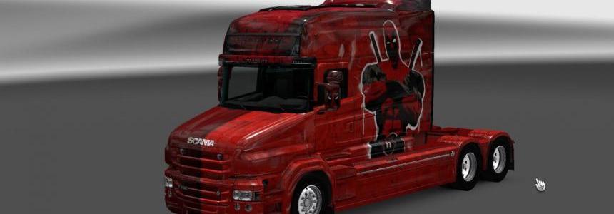 Scania T RJL Longline Deadpool Skin