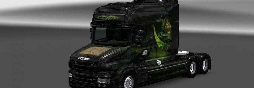 Scania T RJL Longline World of Warcraft Skin