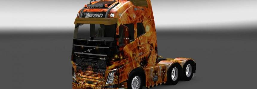Skin Fire Skull For all Trucks 1.22