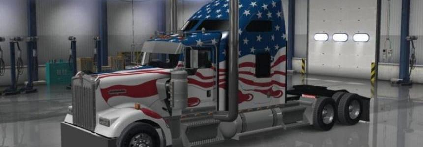 Skin USA for the Kenworth W900 1.1.1.3
