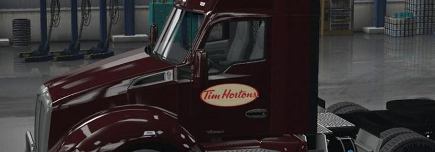 Tim Hortons skins for the 579 and T680 + Trailer v1