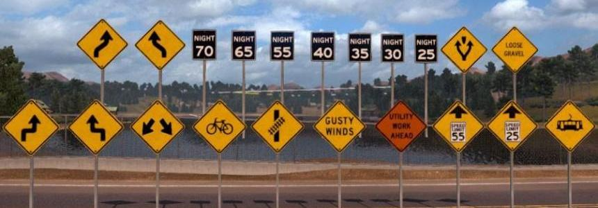 Traffic-Signs-Pack V1.2 – more sign assets for ATS