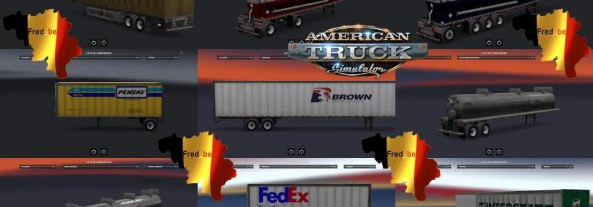 Trailer Pack V1.0 Replaces (+/- 60 skins) For ATS 1.1.x