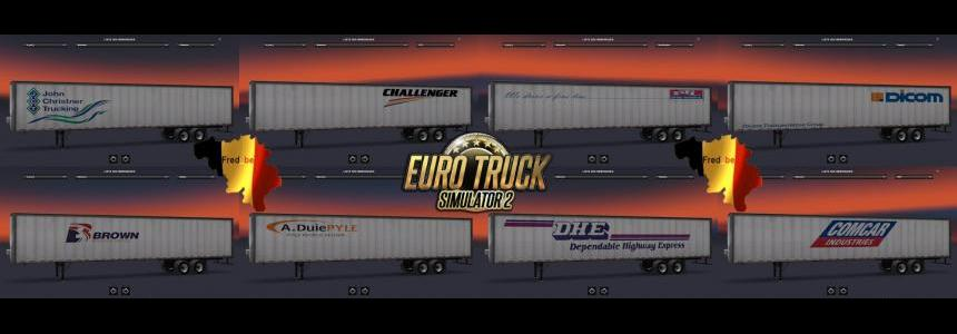 Trailers Pack Box ATS for ETS2 (Standalone) 1.22.x