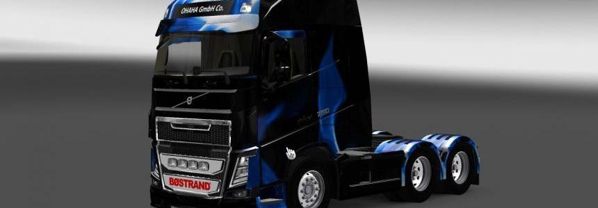 Volvo FH 2012 Blue Fire Skin 1.22