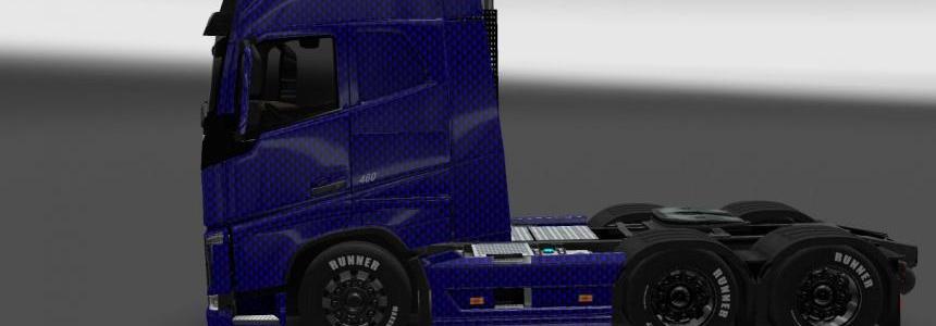Volvo FH 2013 Blue Carbon Skin 1.22