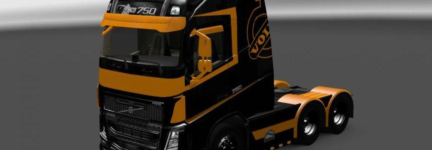 Volvo FH 2013 by Ohaha Black & Orange Skin