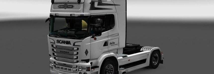 White Scania RS Skin 1.22