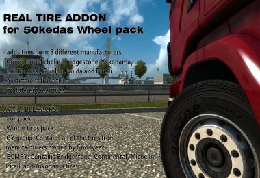 Real Tire addon for 50kedas Wheel pack v4.4