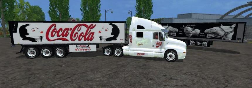 CocaCola Kenworth Cat Truck + Trailer12 v1.0 By Eagle355th