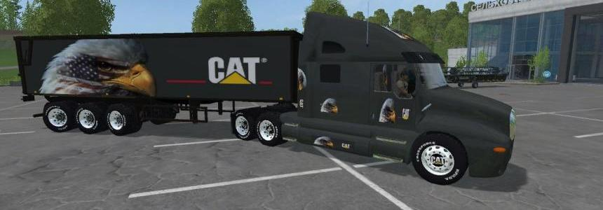 Eagle Eye Kenworth Cat Truck and Eagle Eye Semi Trailer By Eagle355th