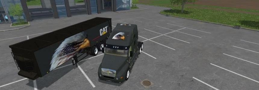 Eagle Eye KW Cat Truck + Semi Trailer By Eagle355th Fixed