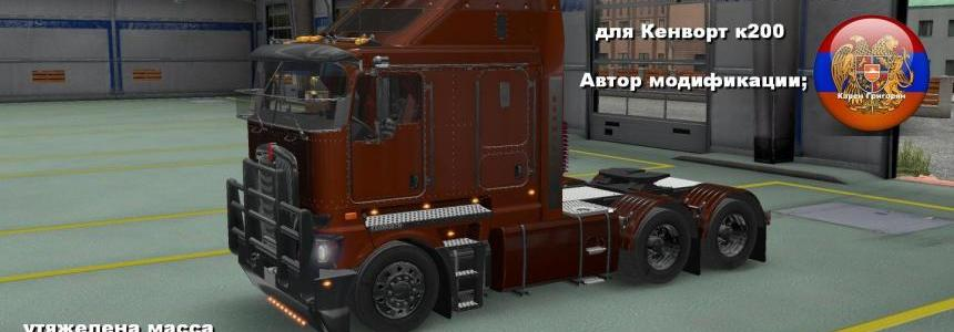 6x6 Chassis For Kenworth K200 Truck