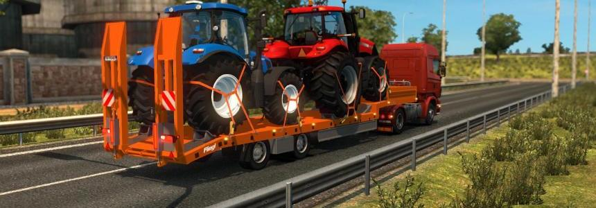 Single trailer - Fliegl - NH and Case tractors v1.0