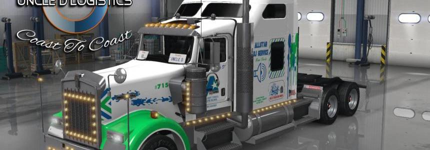 UNCLE D LOGISTICS ALL STAR DJ SERVICE KENWORTH W900 SKIN