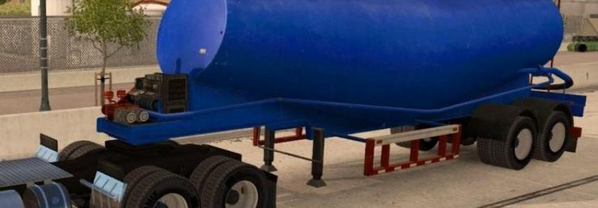 Blue Cement Trailer
