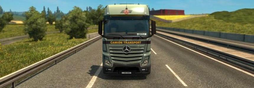 Camion Transport Mercedes Actros 2014 v2.2