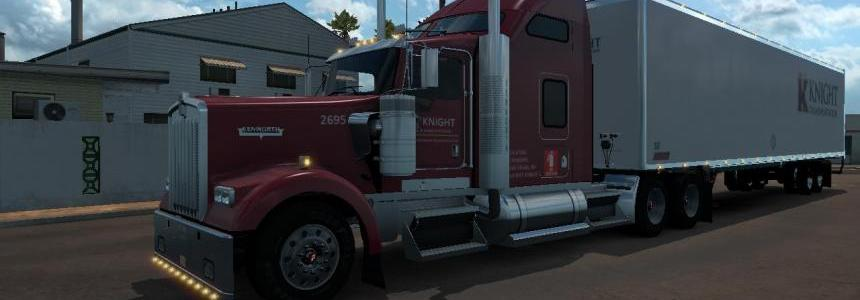 DC-Knight W900 + Trailer Skin Pack for ATS v1
