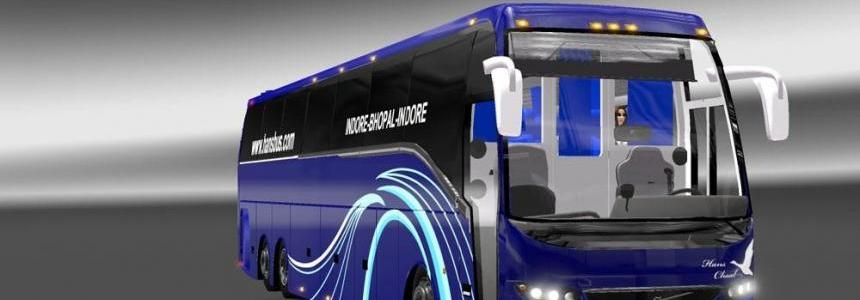 Facelifted Indian Volvo Bus mod with Skins