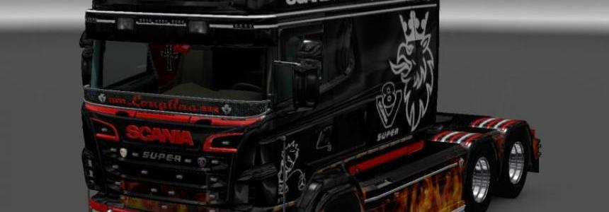 Fire Skin for RJL SCANIA R Longline v2.0
