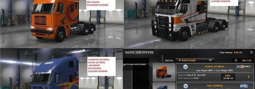 Freightliner Argosy Company trucks (Quick job)