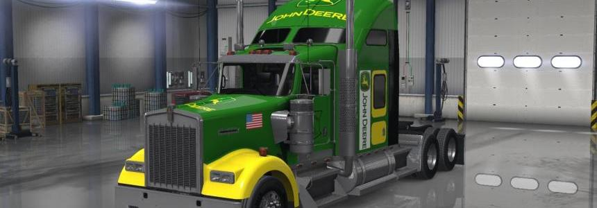John Deere skin for  SCS Kenworth W900 v1.0