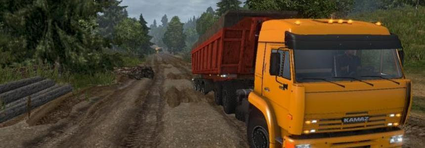 Kamaz 6460 with improved off-road suspension 1.22.x