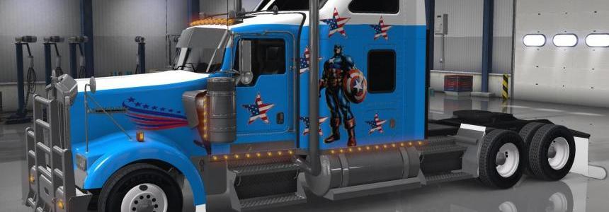 Kenworth W900 Captain America