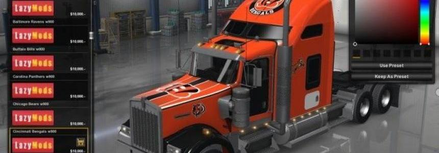 NFL Skin Pack – Kenworth W900