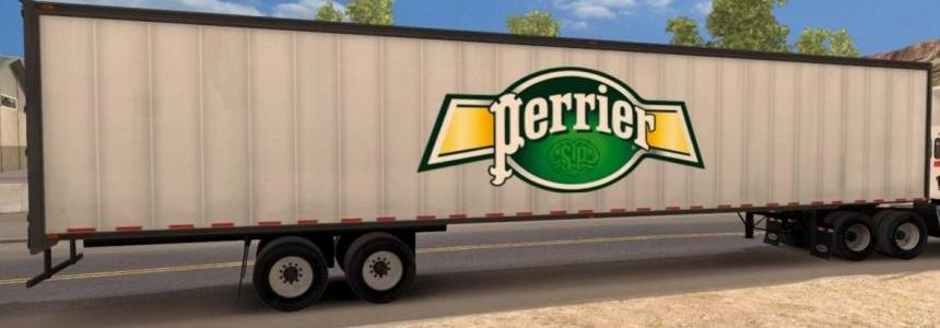 Perrier bottled water trailer