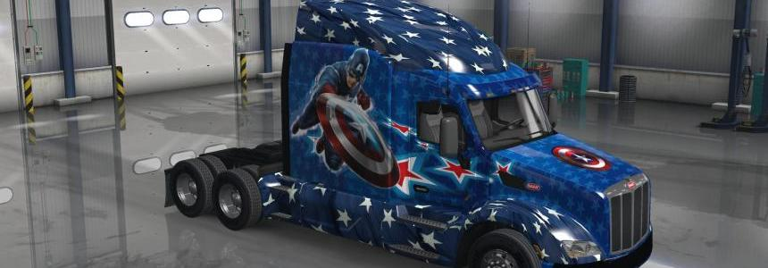 Peterbilt 579 Captain America Skin