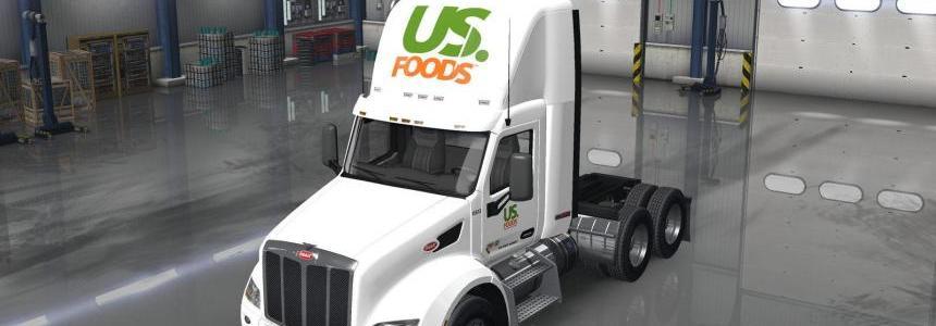 Peterbilt 579 DayCab US Foods Skin