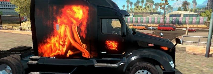 Peterbilt 579 Fire Composition Skin